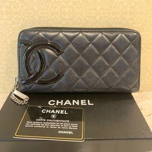 Chanel Cambon Ligne Continental Zippy Wallet